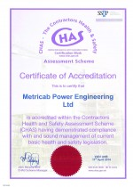 CHAS Certificate Valid April 2014