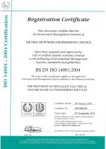 ISO14001 2004 Certificate of Registration (Expires 2018.09.30.)