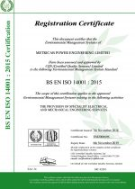 ISO14001 2004 Certificate of Registration (Expires 2019.11.06.)