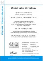 ISO9001 Certificate of Registration (Expires 2018.09.30.)