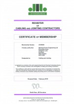 JIB Cert. Valid to Feb 2014