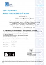 NERS 11kV & 33kV Design & Construction Certificate (Valid to 01.11.2020.)