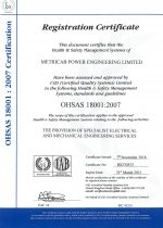OHSAS 18001 Certificate of Registration (Expires 2021.03.31.)
